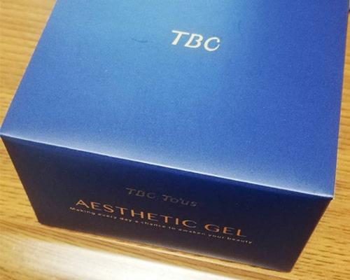 TBCエステティックジェルの箱